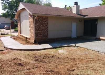 concrete pad and privacy fence by gorilla brothers (15)