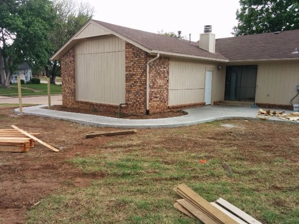 Concrete Pad and Privacy Fence
