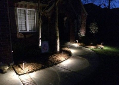 walkway lighting by gorilla brothers landscaping and remodeling (2)