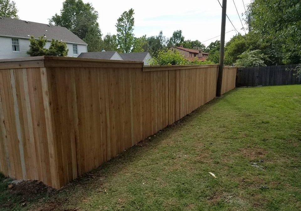 Cedar Cap and Trim Fence