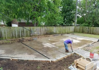 shop remodel and concrete project