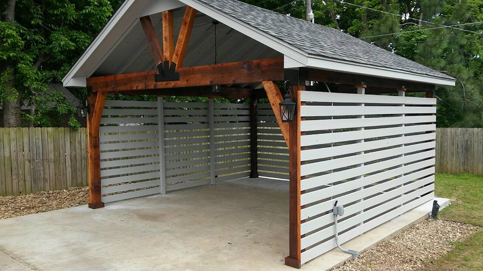 Garage Conversion to Vaulted Pavilion