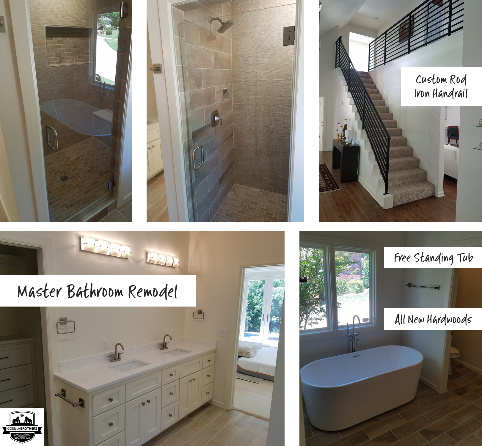 All New Custom Built In Closets. Check Out The Cool Free Standing Tub And  Hardwoods In The Brand New Bathroom. Another Neat Feature Is The Custom Rod  Iron ...