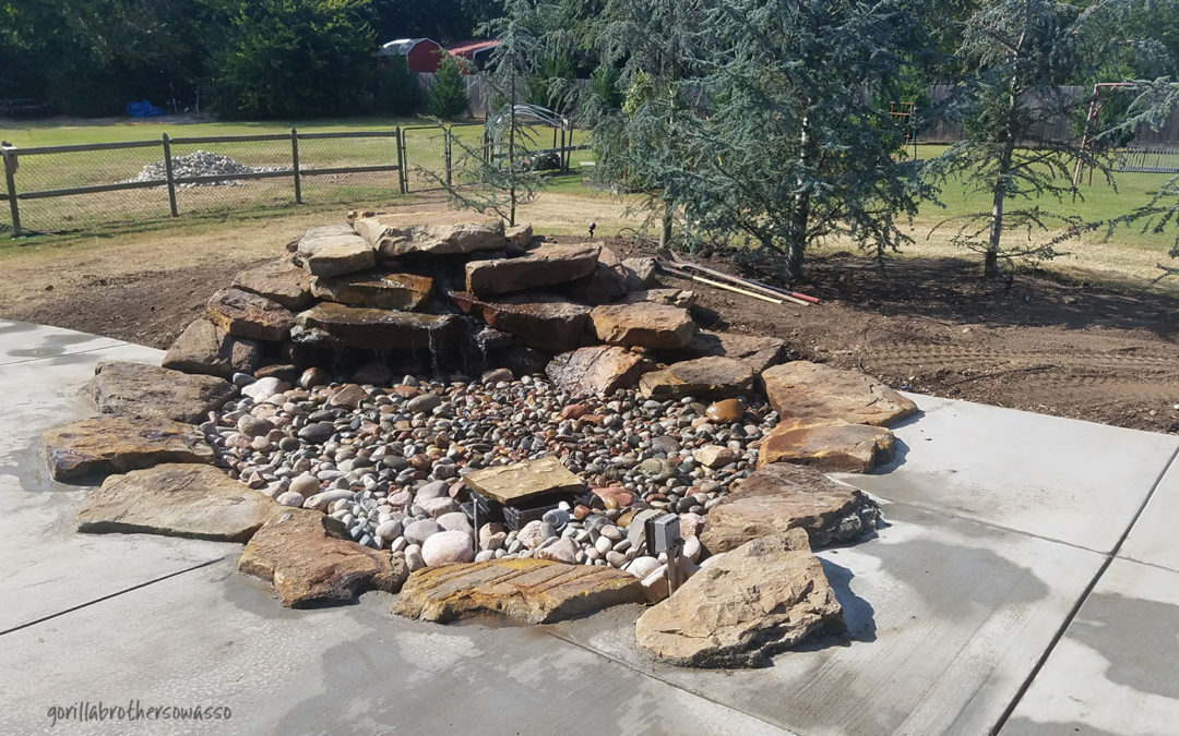 Outdoor Area – Hot Tub Enclosure, Fire Pit & Water Feature