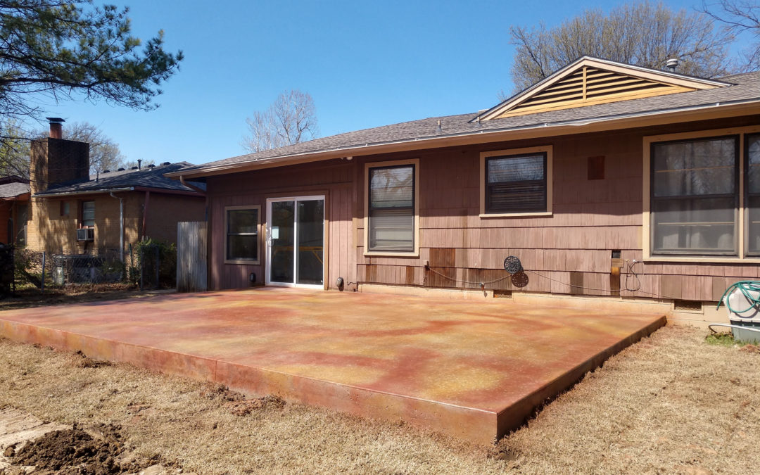 Rotting Deck to Gorgeous Stained Concrete
