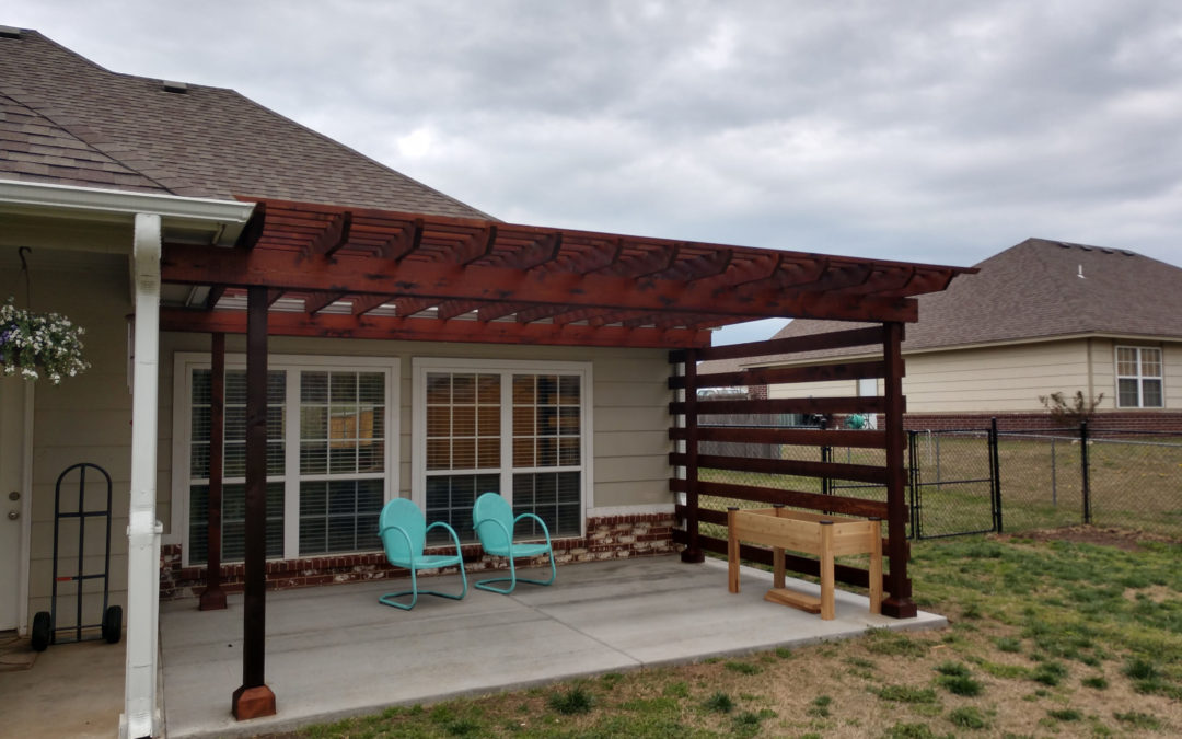 Pergola & Concrete Patio