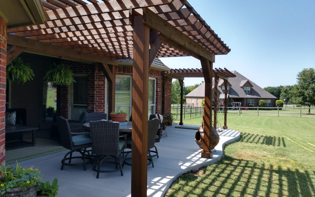 Concrete Pad and Pergolas – Owasso