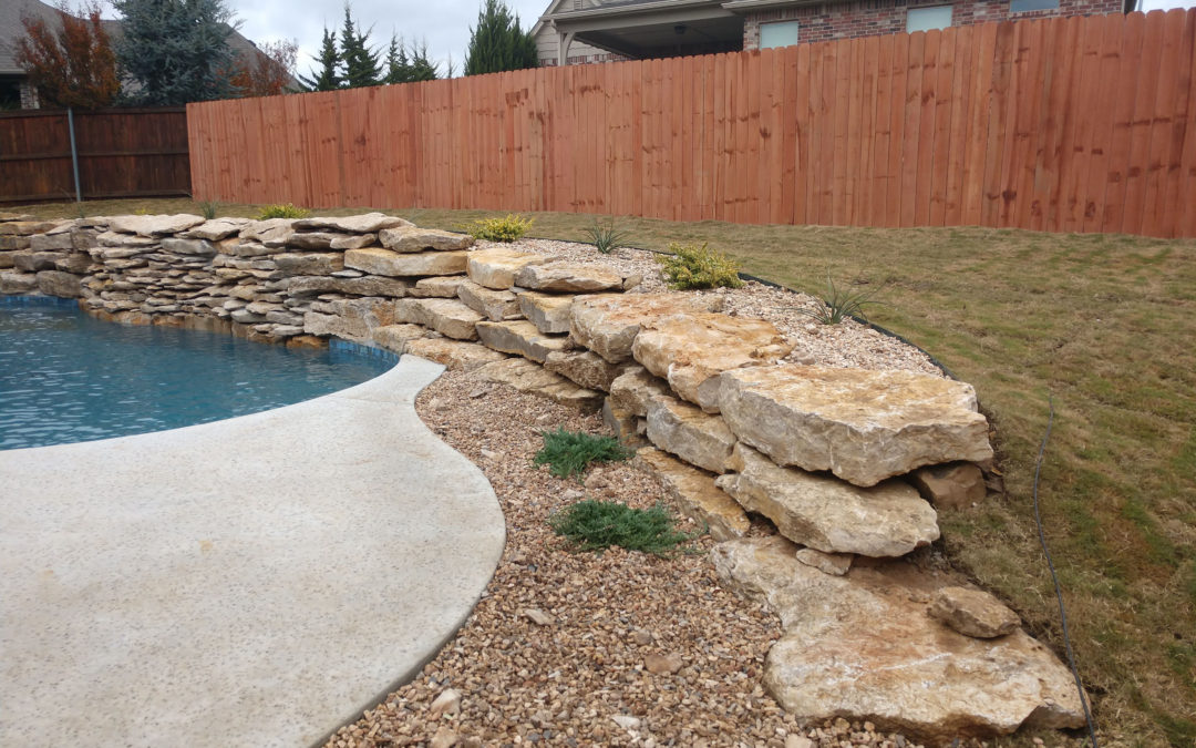 New Fence, Grading, Landscaping & Hardscaping (Broken Arrow)