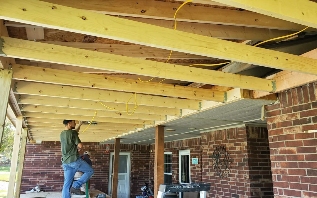 Extended Covered Patio (Coweta, OK)
