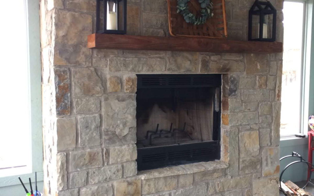 Outdoor Fireplace (Screened In Porch at Skiatook Lake)